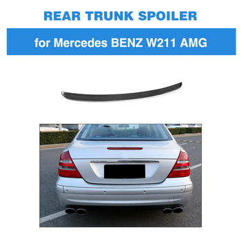For Mercedes Benz E class W211 2003 - 2009 E320 Rear Wing Spoiler Trunk Boot Lip Spoiler for Carbon Fiber
