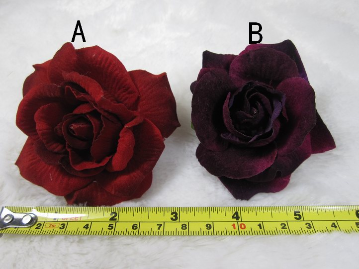Wholesale wine red rose color A/B artificial fabric flower stage performance Accessories Decoration DIY