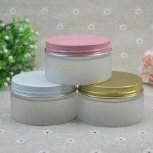 100G frosted PET botella de crema, envase cosmético, tarro poner crema, Tarro Cosmético con rosa o blanco o tapa de oro, Envases cosméticos