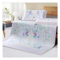 Summer simple Viscose fiber Mat Fitted sheet set Summer Cool Mat bed cover sleeping mattress protector Mattress Cover bedspread