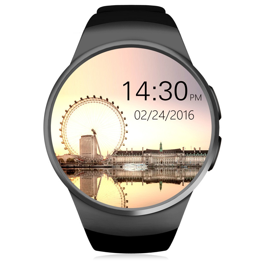 2017 KW18 Bluetooth smart watch full screen Support SIM TF Card Smartwatch Phone Heart Rate for