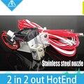 Все-металл/Тефлон Химера Hotend Полный комплект-Мульти-экструзии 3D принтер V6 Двойной Головкой Экструдера 0.25-0.8 мм Сопла, 1.75 мм
