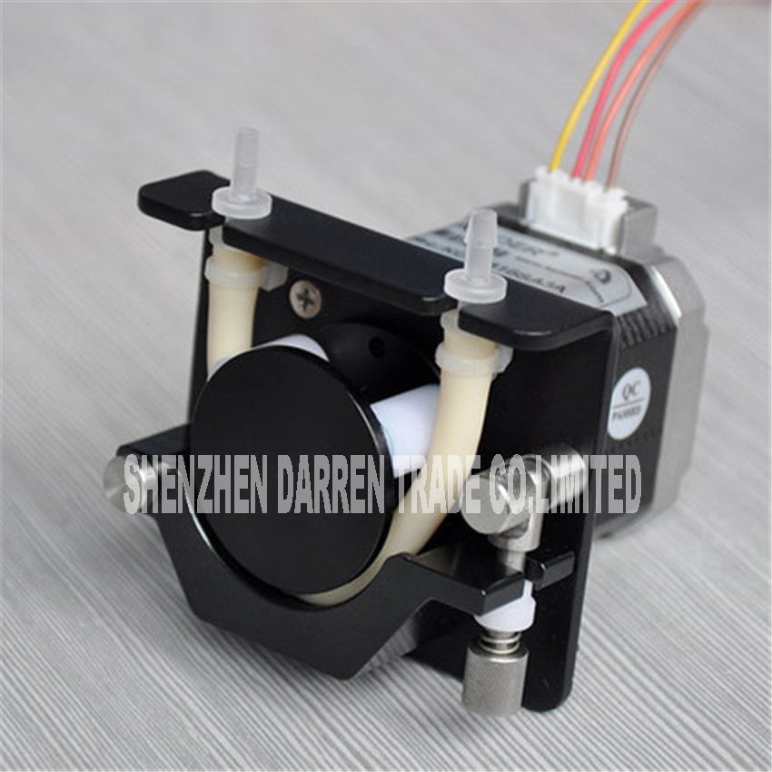 KCS-B  small peristaltic pump with 12V / 24 V stepper motor aluminum alloy kamoer kcs mini peristaltic pump stepper motor 24v electric water pump
