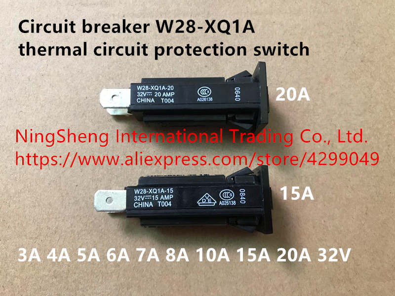 Original new 100% import circuit breaker W28-XQ1A thermal circuit protection switch 3A 4A 5A 6A 7A 8A 10A 15A 20A 32V idpna vigi dpnl rcbo 6a 32a 25a 20a 16a 10a 18mm 230v 30ma residual current circuit breaker leakage protection mcb a9d91620