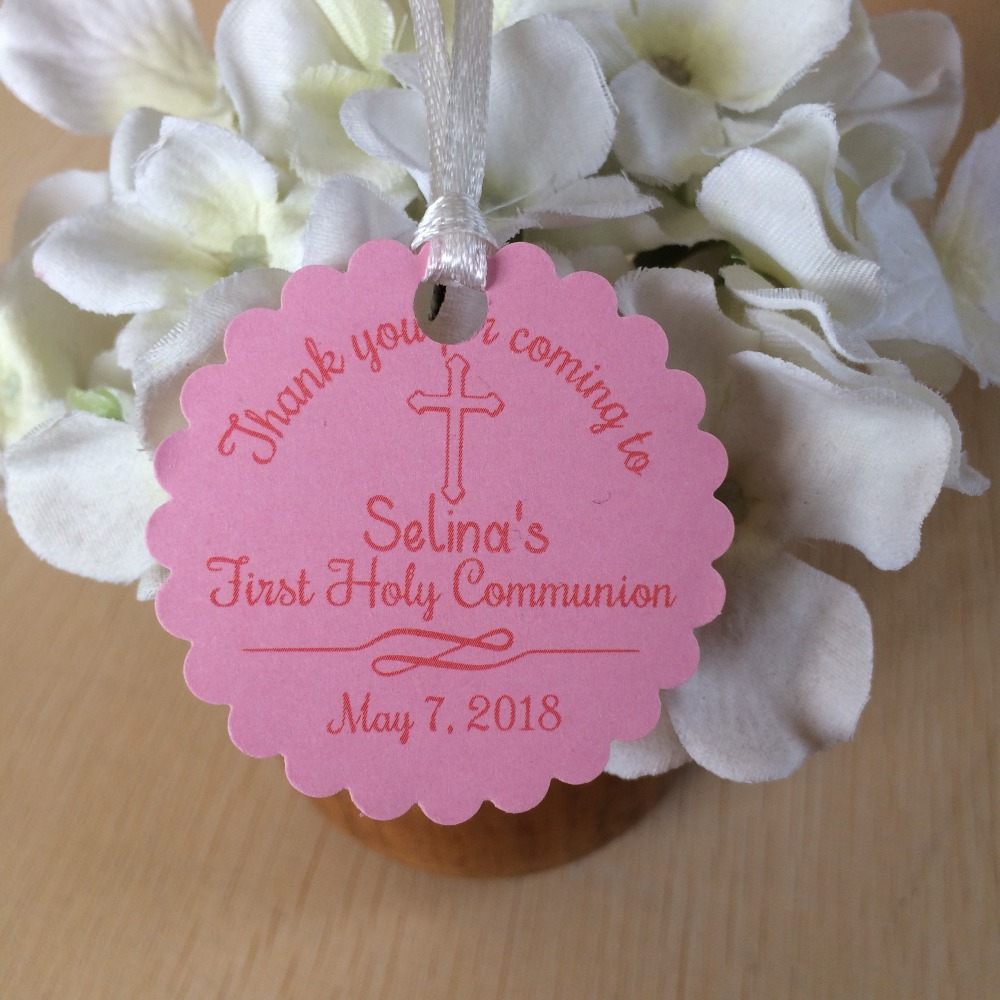 Personalized girls 1st first holy communion favor tag confirmation ...