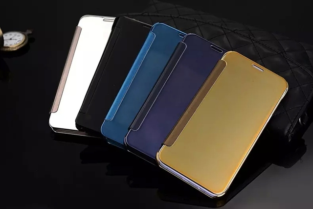 best deals on 6bdc9 01065 US $6.98 |For samsung galaxy A8 A800 Case Clear View Cover Mirror Screen  Flip Leather Capa Para Screen Protector on Aliexpress.com | Alibaba Group