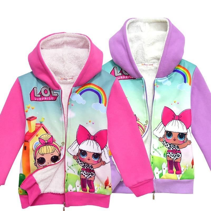 lol doll Winter Baby Girls Clothes cotton Coat Warm Jacket Xmas Snowsuit Hooded Jacket Outerwear toddler sweatshirt kids hoodies