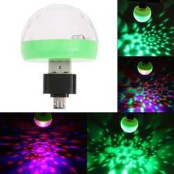 Mini-USB светодиодные фонари для вечеринки Портативный кристалл магический шар домашнего вечерние караоке украшения красочные сцены