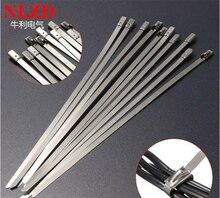 100Pcs S316 Rvs Metalen Kabelbinder w = 7.9mm Zip Strap Vergrendeling Uitlaatpijp Header 6inch om 10inch 16inch 22 inch 28inch