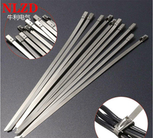 100Pcs S316 Stainless Steel Metal Cable Tie w=7.9mm Zip Strap Locking Exhaust Pipe Header 6inch to 10inch 16inch 22 inch 28inch