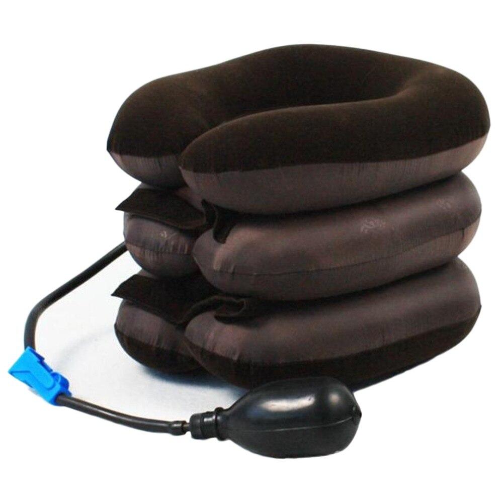 U-Shape Massage Pillow Travel Airplane Air Inflatable Neck Pillows Car Head Neck Rest Air Cushion For Sleep Home Textile