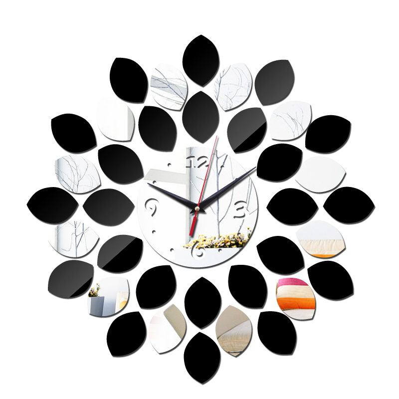 new arrival diy wall clocks sticker home decor acrylic mirror surface modern furniture stickers art Стикер