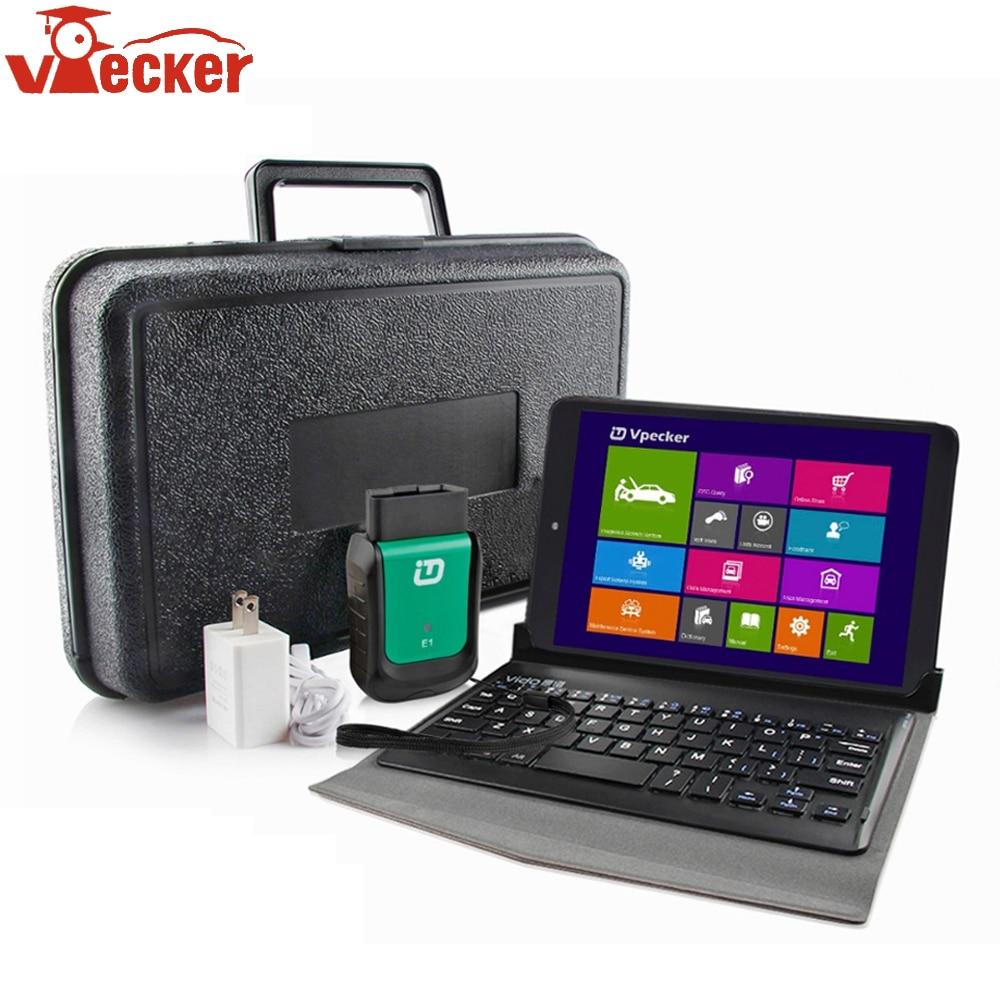 купить Newest Vpecker V10.7 Easydiag OBD2 Wifi Code Read OBD2 Scanner 8 inch Windows 10 Vpecker Tablet ODB2 Car Auto Diagnostic Scanner по цене 7784.35 рублей