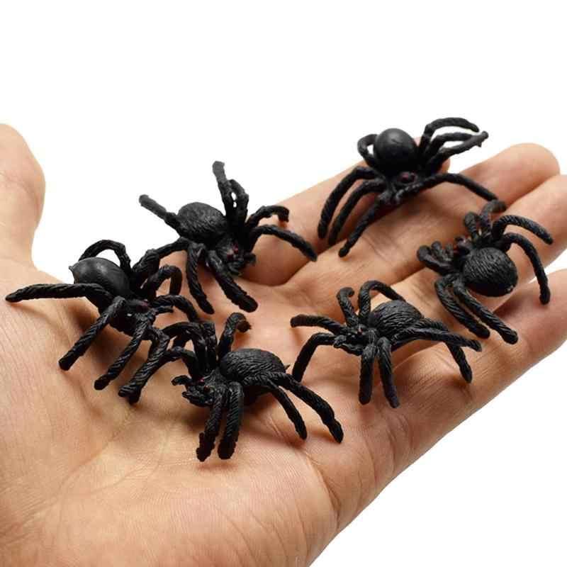 Имитация паука шутки игрушки ПВХ искусственное насекомое модель животного трюк Забавные игрушки имитация паука шутки игрушки ПВХ новинка игрушки