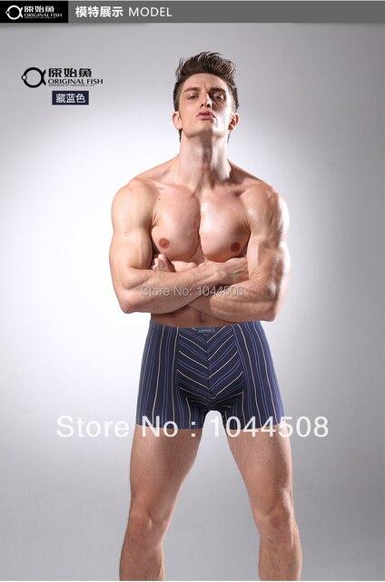 Free shipping Men stripes fertilizer plus-size  boxers underwear