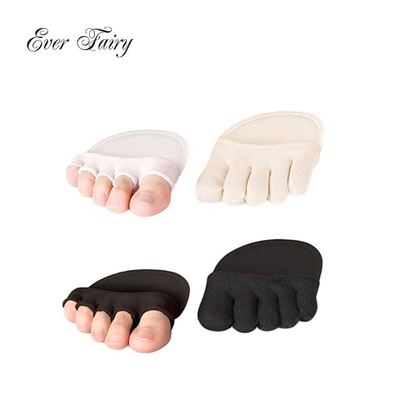 2017 Women socks Foot pad Gel Lining Open Toe Heelless Liner Cotton Socks With Invisible Forefoot Cushion Foot pad socks