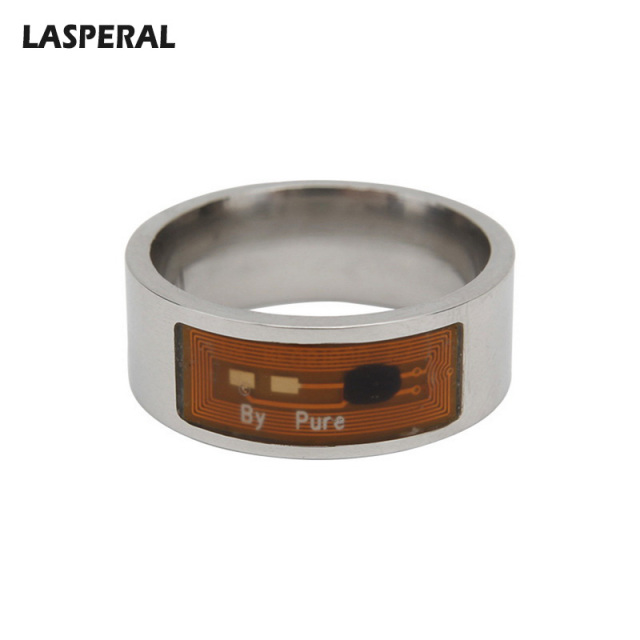 LASPERAL New Smart Wear Stainless Steel Rings Men Women Access Card NFC  Smart Technology Rings Ultimate Control Ring Accessories f2b3d5c10