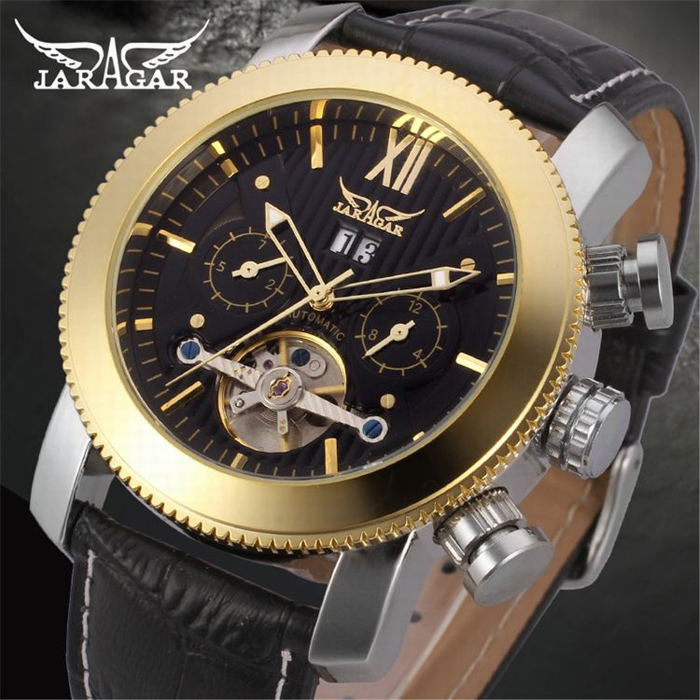 New Design JARGAR Brand Watches Mens Best Gift Tourbillion Automatic Mechanical Watch Multifunction Dial Display Montre