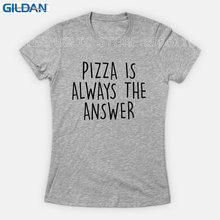 Gildan Custom Tee Shirts Graphic Pizza Is Always The Answer Short-Sleeve Tee Shirts