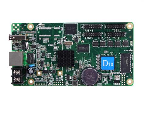 HD-D10 Asynchronous 4*HUB75 Full Color Display Screen Control Card High Refresh Led Display Video Control Card