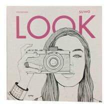 Fashion LOOK Kleurboeken Voor Volwassen Kinderen Meisjes antistress Art Tekening Schilderij Geheime Tuin kleurboek Libros
