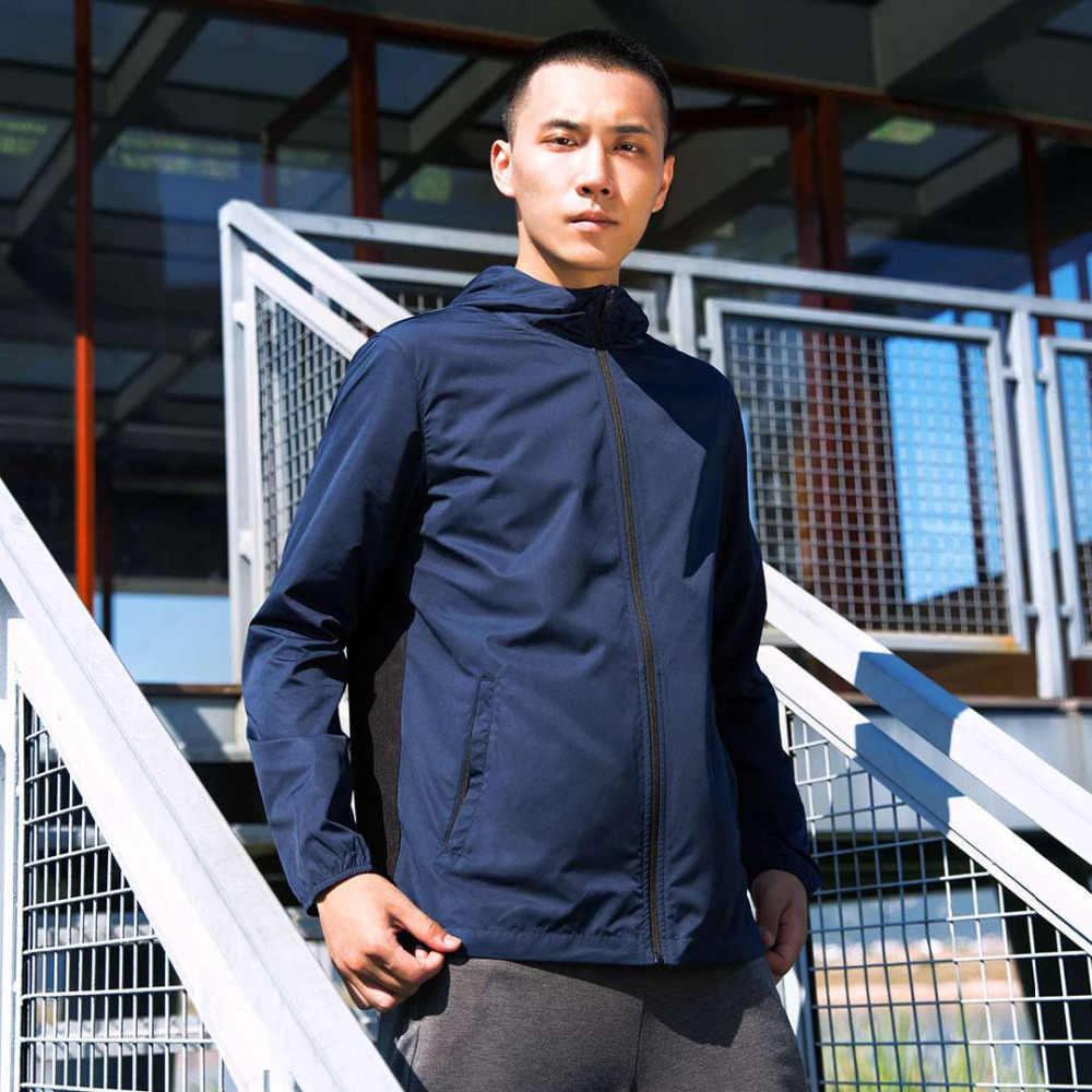 Xiaomi Для Мужчин's спортивная куртка для хранения в рюкзаке UPF50 + дышащая водостойкая Защита от солнца одежда пальто для мальчиков