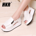 HKR 2017 women sandals summer wedges sandals gladiator sandals round toe zipper platform sandals female shoes flip flops 8332