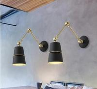 modern brief flexible iron Cone wall lamp for bedroom living room nordic creative aisle reading room wall lights A66
