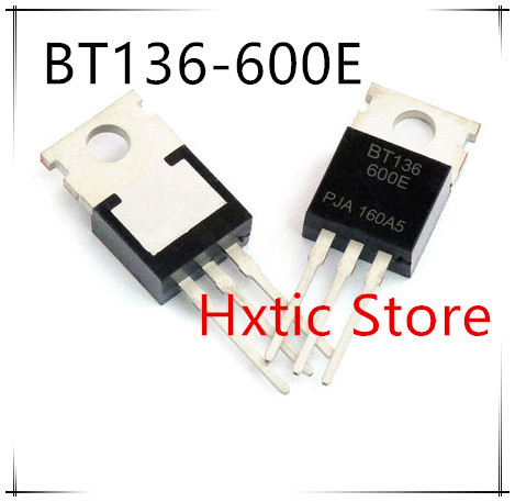 NEW 10PCS/LOT 10pcs/lot New BT136-600 BT136-600E TO-220 Triac 600V 4A BT136 IC title=