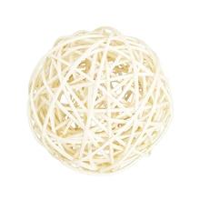 100 мм белые большие плетеные шары из ротанга-декоративные шары для чаш, наполнитель вазы, декор кофейного стола, украшение для свадебной вечеринки