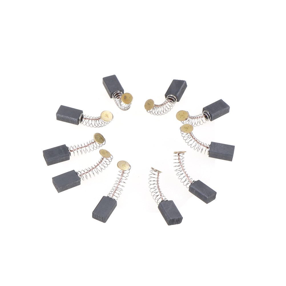 10pcs/lot Carbon Brushes For Tool Drill Accessories For Motor And Mini Grinder Motor Abrasive Tools 13 X 8 X 5mm