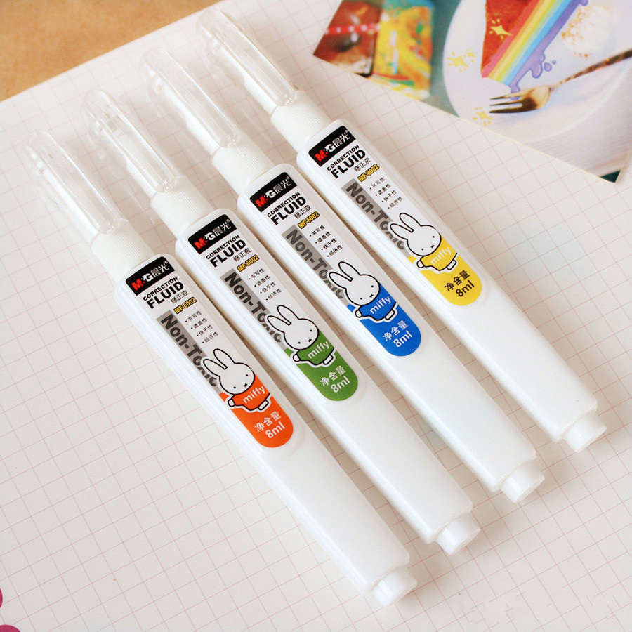 1PC Large Capacity Correction Fluid Multicolored Cute Rabbit Writing Error Correction Office Or School Stationery Supplies