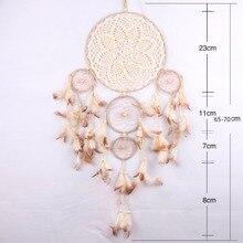 Кружево Ловец снов висящий круг перо цветы Китай сеть Ловца снов дома стены автомобиля Декор украшения Ремесло