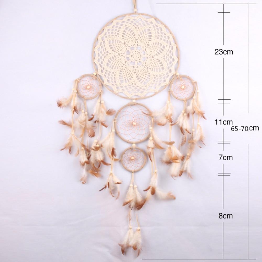 Spitze Traum Catcher Hängen Kreis Feder Blumen China Dreamcatcher Net Home Wand Auto Decor Ornamente Handwerk