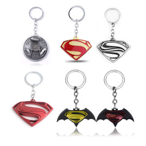 Cheapest Price 6 Styles Super Hero Superman Letter S Logo Keychain The Avengers 4 Rotatable Metal Key Chain For Women Men Car Keyring Jewelry — bequmcmvl