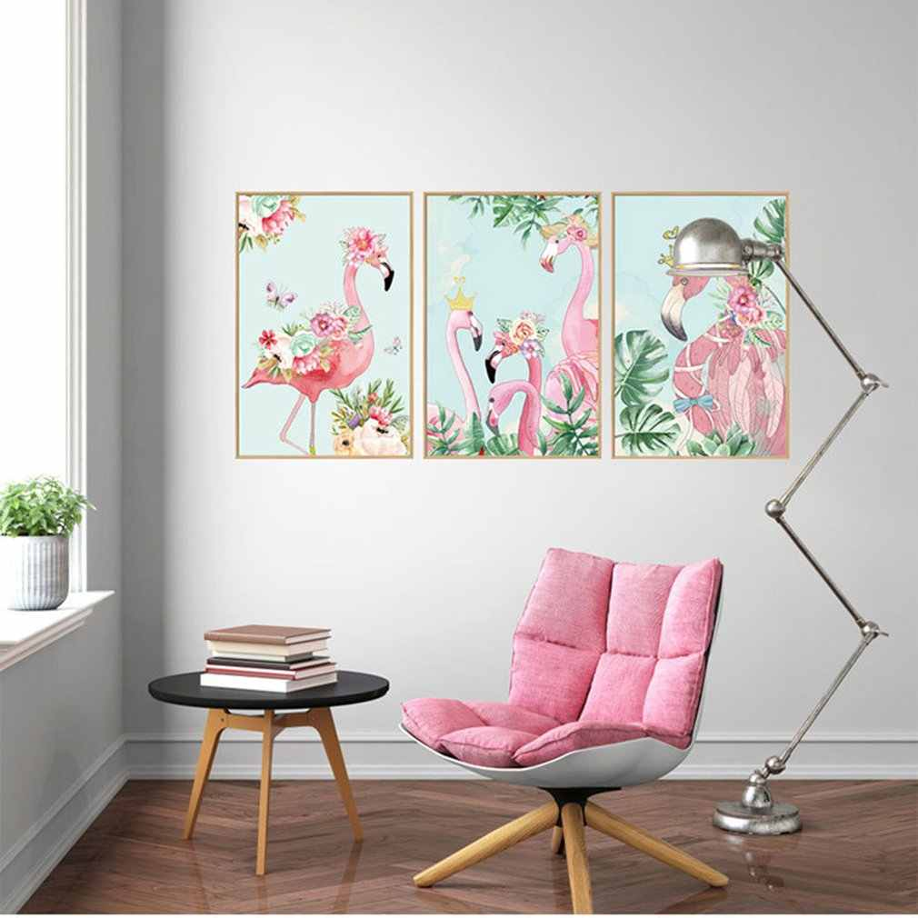 Flamingo Photo Frame Decoration Stickers Porch Study Children'S Room Sofa Corridor Background Removable Wall Stickers