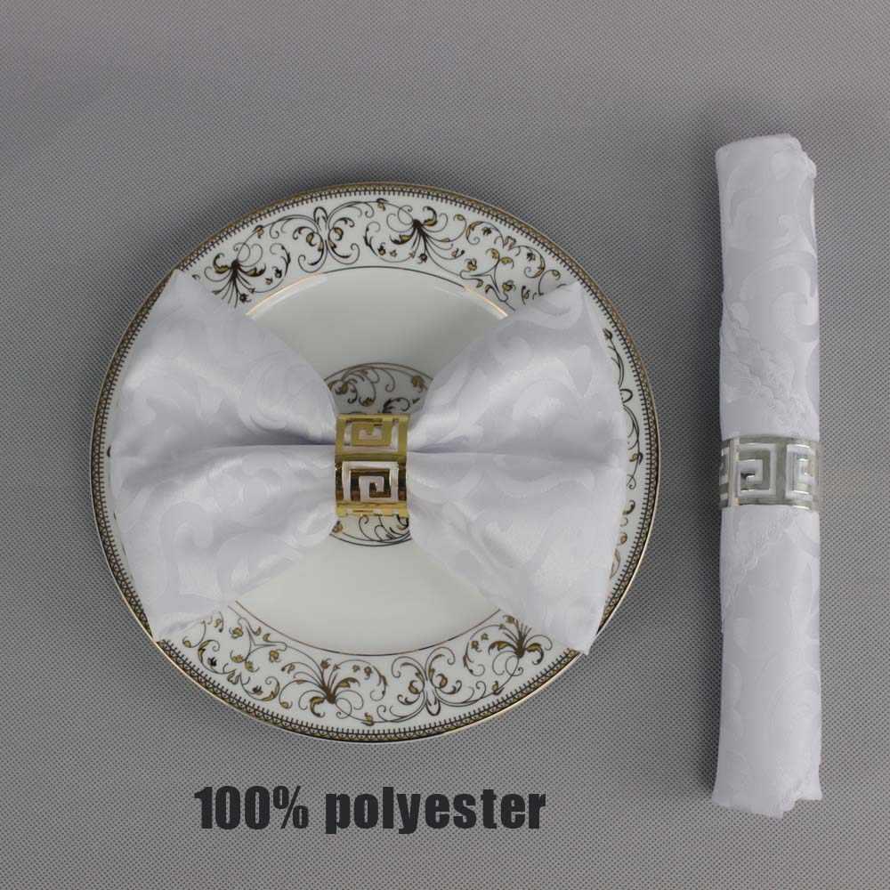 Лидер продаж, 10 шт./партия, украшение для свадебной вечеринки, полиэстер, 48 см, квадратная салфетка для стола, банкетная салфетка, домашний Карманный платок
