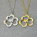Персонализированные Ожерелье, трехместный Сердце Ожерелье с Камень, 3 Имен, 3 сердца, камень Ювелирные Изделия, пользовательские Имена Ювелирные Изделия
