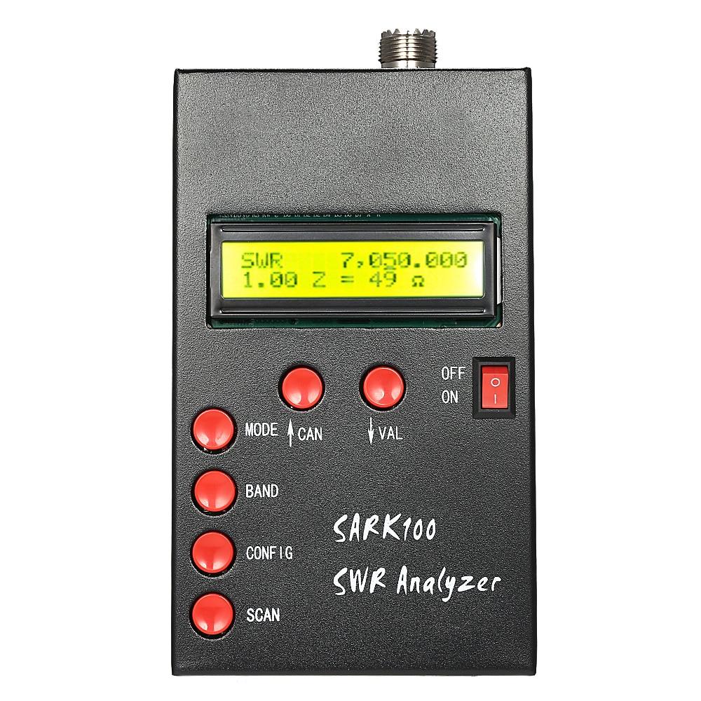 Verificador ereto da onda do medidor 1-60 mhz do analisador da antena de swr da formiga de sark100hf para a medida da capacitância da impedância dos amadores do rádio do presunto