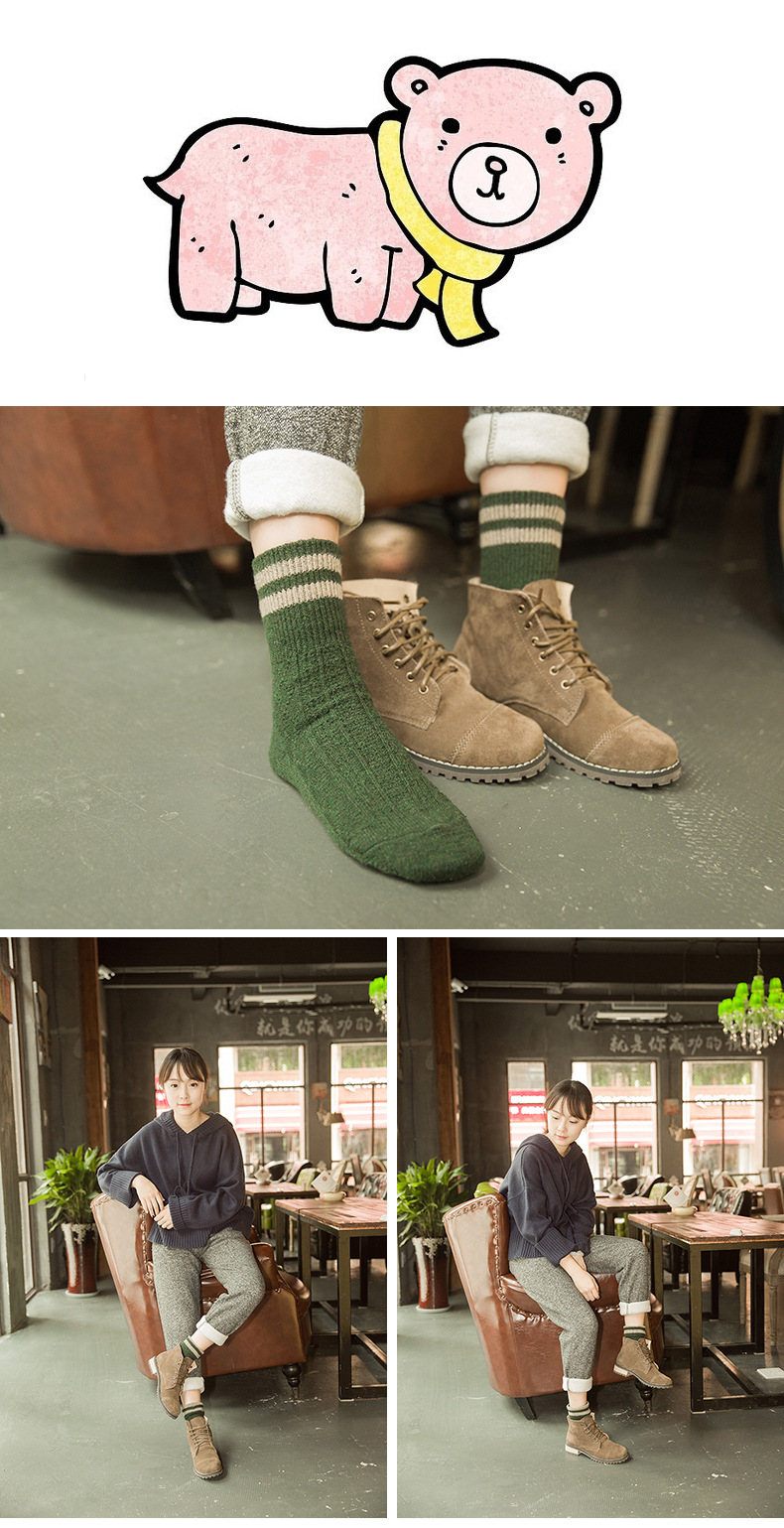 HTB1sMfNaiYrK1Rjy0Fdq6ACvVXa8 - 5 Colors New Fashion Retro Wool Women Socks Autumn Winter Wamer Cotton Girl Socks Female Japanese Tube Sock Students Hosiery