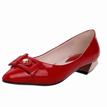 Sequined Solid Pointed Toe sapatos femininos flat shoes woman Patent pu leather white gold black spring flats