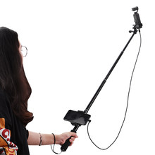 Vara selfie para dji osmo bolso 2 handheld cardan estabilizador cabo para tipo-c ios android telefone clipe módulo de extensão pólo