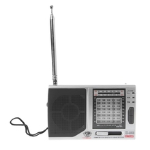 OOTDTY KK-9803 FM/MW/SW1-8 Full 10 Band Hi-Sensitivity Radio Receiver With Folding Kickstand