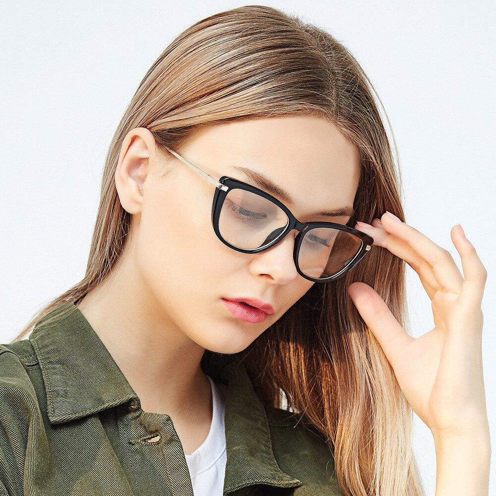 976a3d90ce Women s Fashion Spectacles Clear Frame Myopia Nerd Glasses fashion Brand  Designer cat eye Glasses Frame sexy female Red Eyewear