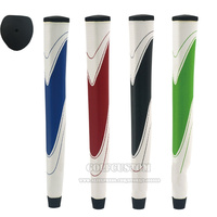 Free shipping Overstretches rubber inner tube PU golf putter grip color block decoration golf grip OEM / ODM golf grips