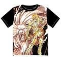 Free Shipping Anime Manga Saint Seiya T-shirt  Women Men Cosplay  T Shirt  Black  Mesh Tee 002
