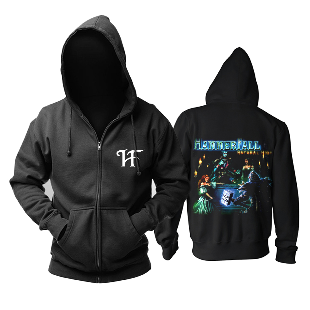 Bloodhoof HAMMERFALL Crimson thunder - Nuclear Blast freeshipping Heavy Metal Power Metal Men In BlackHoodie Asian Size