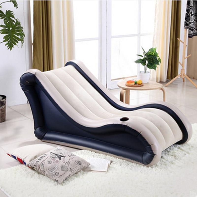 Beach Camping Sleep Air Bed Inflatable Sofa lay bag Living Room Furniture Fashion Flocking Beanbag Sofas Free Shipping