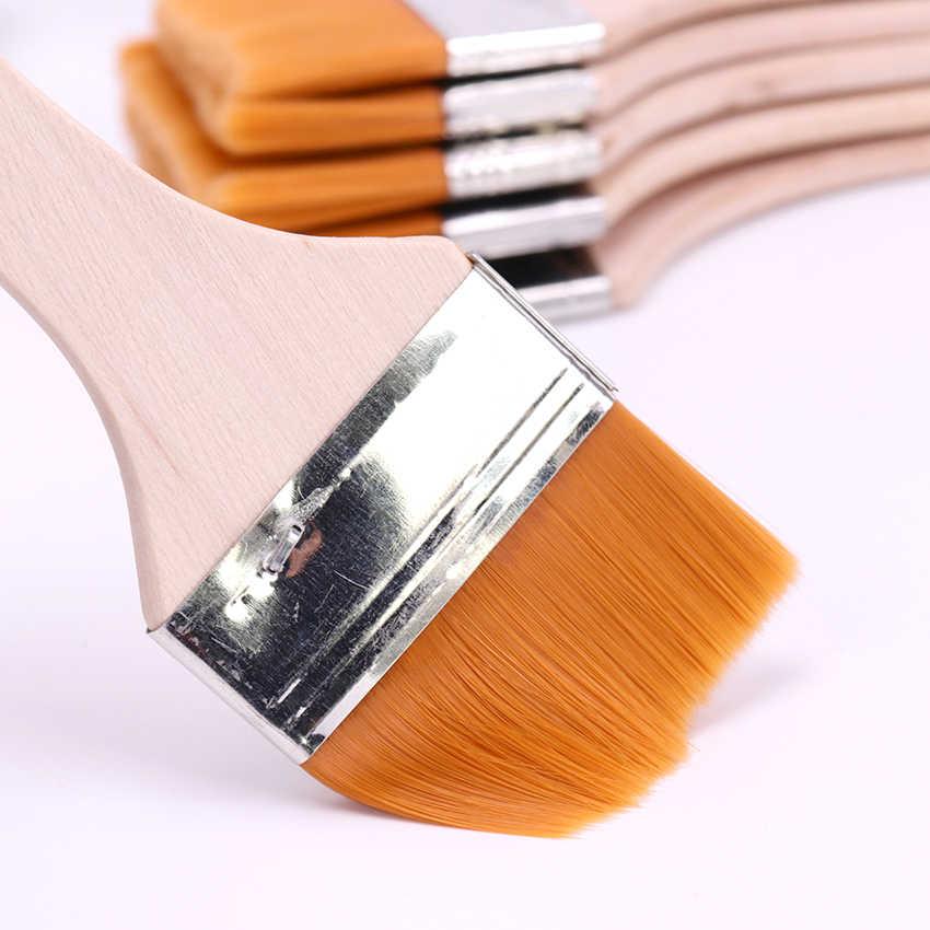 6 estilos de Nylon pincel de pintura para el cabello acuarelas en polvo de agua propileno de diferentes tamaños pinceles de pintura suministro de arte escolar