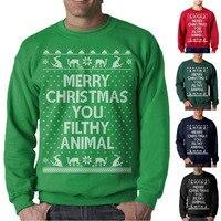 ZOGAA, осенне-зимний мужской свитер, новая мода, Повседневный, o-образный вырез, облегающий, Рождественский, мужской свитер, пуловер, Homme, размер...